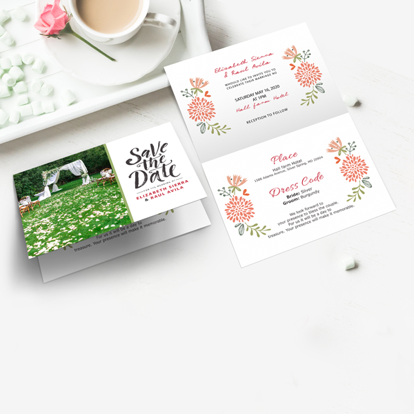 Folded Save the Date Cards
